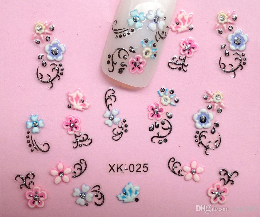 3d nail art decals lovely flower style for nails simulation of see larger image prinsesfo Choice Image