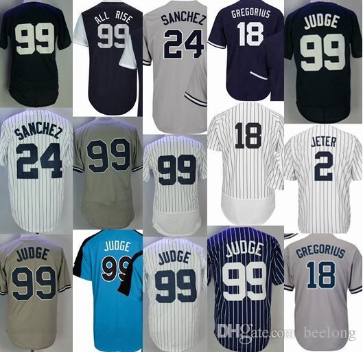 New York  99 Aaron Judge Jersey 2 Derek Jeter 24 Gary Sanchez 18 ... 04fb7bf53