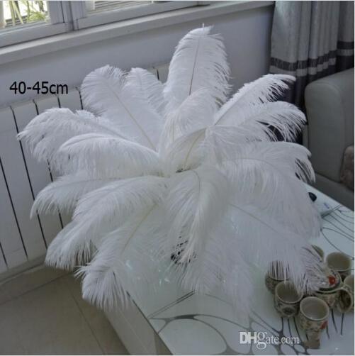 200 шт. За лот 10-12 дюймов белый страус перо шлейф товары для рукоделия свадьба стол центральные украшения бесплатная доставка