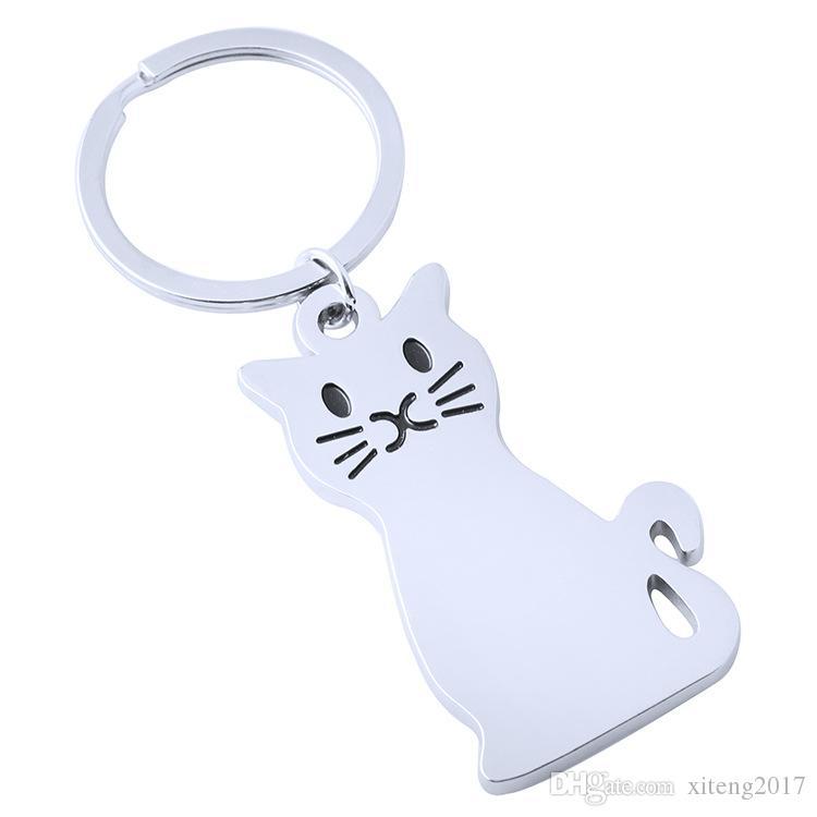 Neue Mode Kreative Modell Katze Keychain Beliebte Vielseitige Legierung Metall Schlüsselanhänger Schlüsselanhänger Personalisierte Nette Autoschlüssel Ring Großhandel