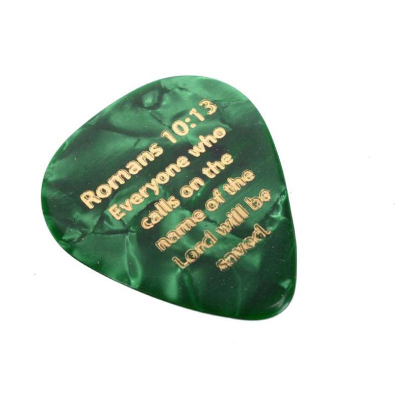 / Pick color chitarra in celluloide colore con GESÙ Romani 10:13 Stampa 0,71 mm