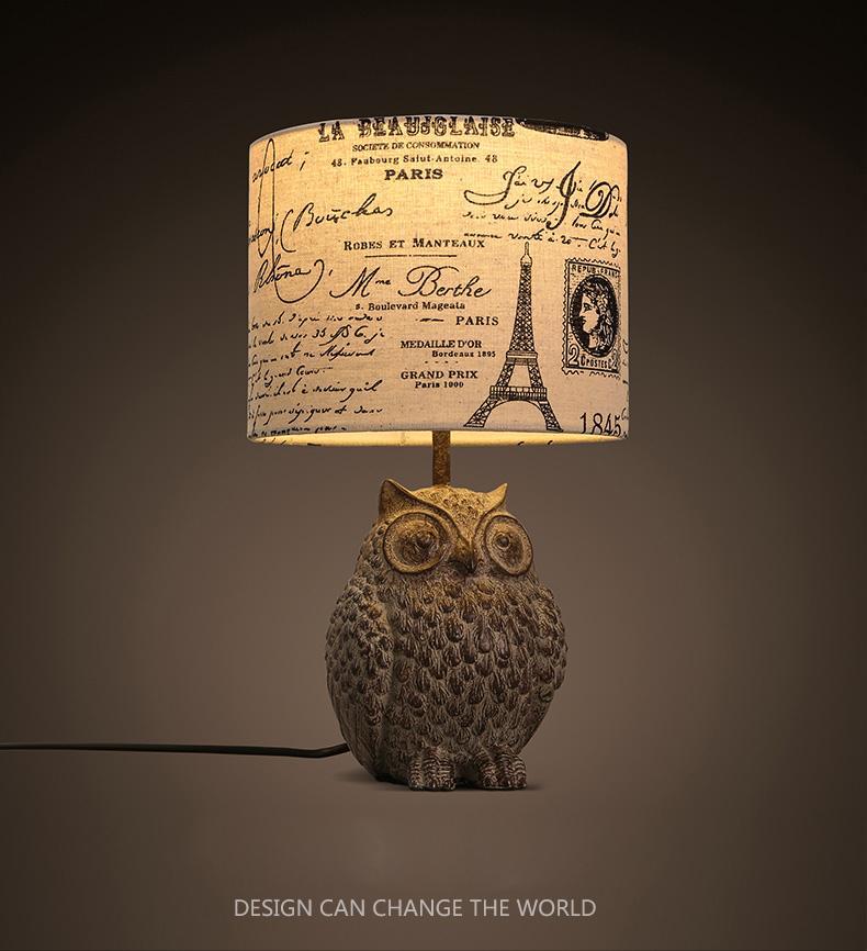 2017 Modern Nordic Owl Table Lamp Creative Resin Base Table Lamp Desk Lamp  Used In Bedroom Livingroom Table Lights From Cherry5168, $115.58 |  Dhgate.Com