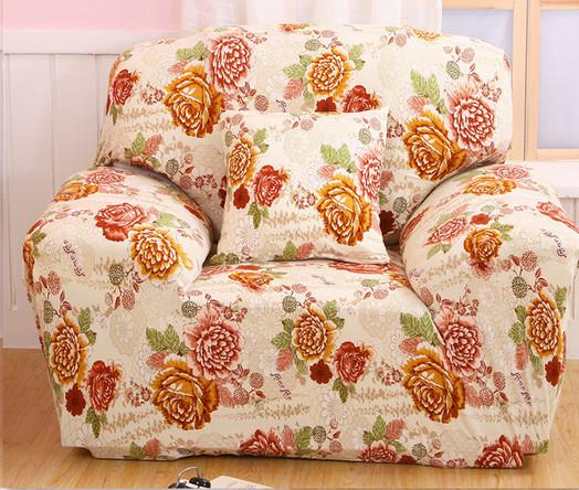 Flower Series Red Sofa Cover Tight All Inclusive Elastic Sofa Towel  Single/Two/Three/Four Seat Propitious Decoration For Living Room Dining  Room Chair ...