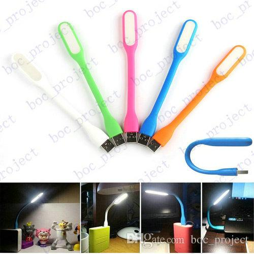 USB LED Lamp Light Portable Flexible Led Lamp for Notebook Laptop Tablet PC USB Power corlorful without retail package