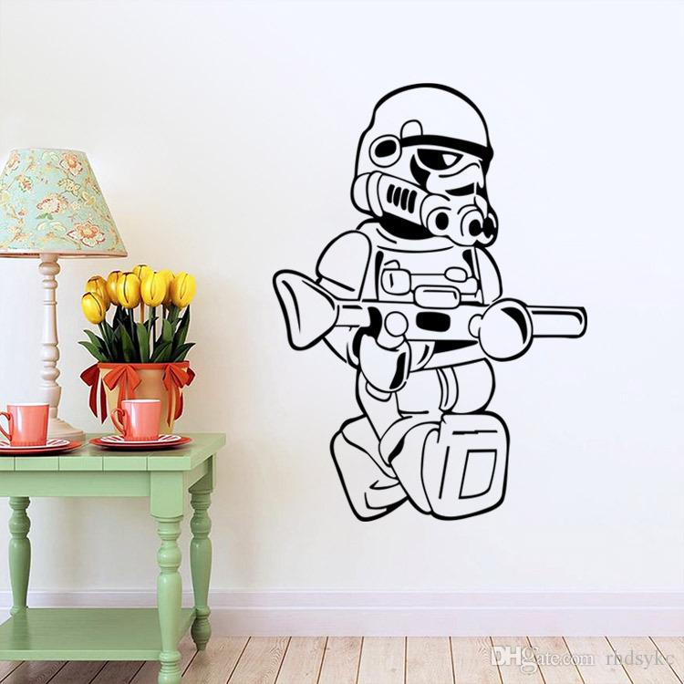 star wars wall decals wars wall stickers stormtrooper home decor diy 30090