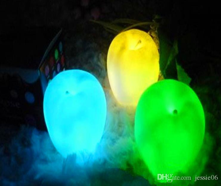 Party Christmas Decorations LED flashing apple Christmas Eve changed colors night light Flameless candles 2015 children toys festive gift