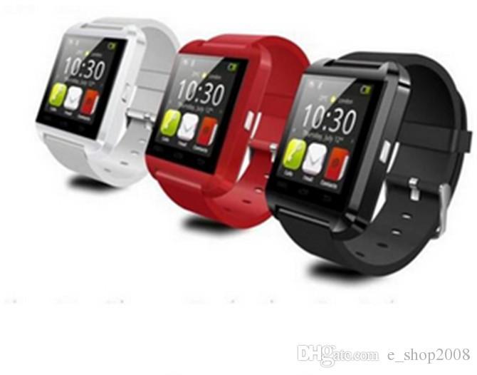 Bluetooth smart watch u8 relógio de pulso smartwatch para iphone 4 4s 5 5s 6 6 s 6 mais samsung s4 s5 nota 2 nota 3 htc android telefone smartphones