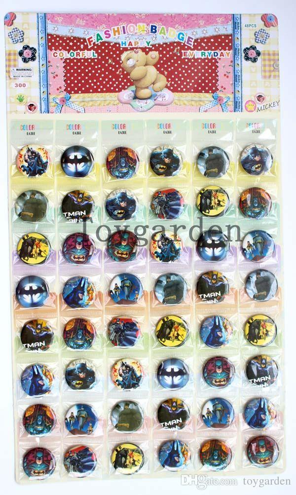 Venda 48 piezas de anime hermoso de dibujos animados para niños botón redondo insignia Pin 30 MM 3 CM venta al por mayor envío gratis