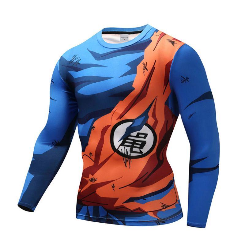 Naruto Dragon Ball Z Super Saiyan Quick Dry T Shirts Tees Vegeta Goku Black Hatake Kakashi Unisex Fitness Tights Cycling Jersey Tshirt Designs Shirt
