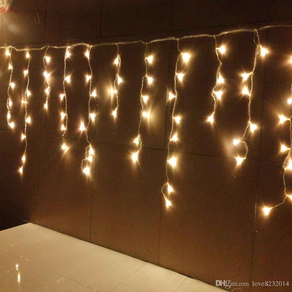 Wonderful New Style 12m X 0.75m 432 LED Curtain Icicle String Lights Christmas Garden  Lamps Icicle Lights Xmas Wedding Party Decorations