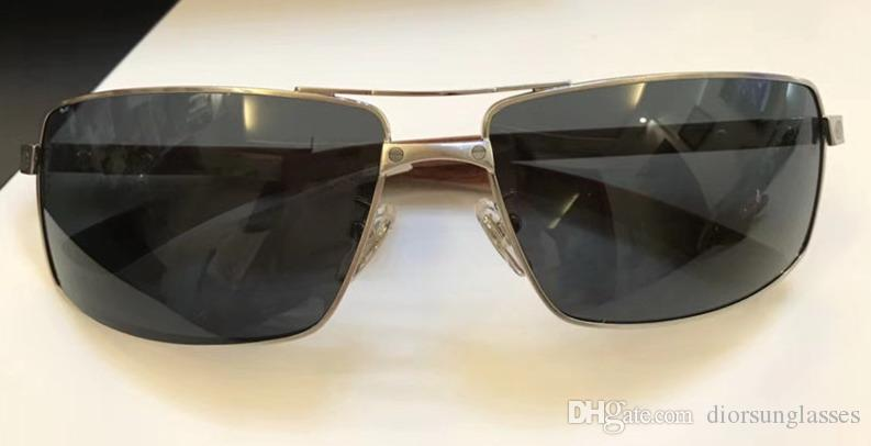 Мужчины марочных EYEGLASSES КАДРЫ WOOD ОЧКИ безободковый КАДР гальванический Santos солнцезащитных очки новое в коробке