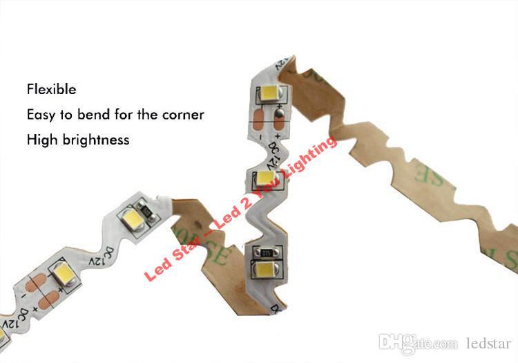 Bend Freely Led Light Strips 12V 2835 IP20 S-shaped Flexible LED Strip Light Channel Letters Backlight 5m/roll 60LEDs/m