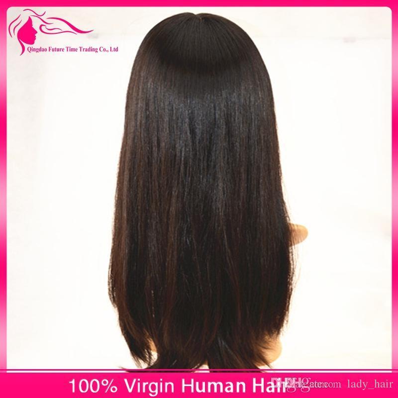 8A Brasilianische Seide Basis Lace Front Menschliches Haar Lange Perücken Für Schwarze Frauen Seidige Gerade Silk Top Glueless Volle Spitze Perücken 130 dichte