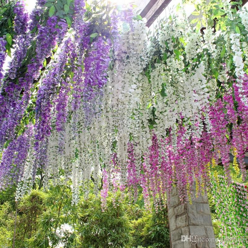 Shop decorative flowers wreaths online hot sale elegant bulk silk shop decorative flowers wreaths online hot sale elegant bulk silk flowers bush wisteria garland hanging ornament home garden hotel wedding decoration mightylinksfo