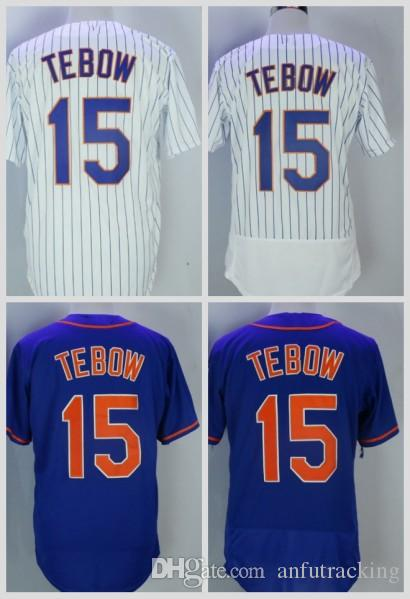 half off 2250c 08038 Hot #15 Tim Tebow 2017 New York Men All Stitched Embroidery Baseball Jersey  S-XXXL Fast Free Shipping