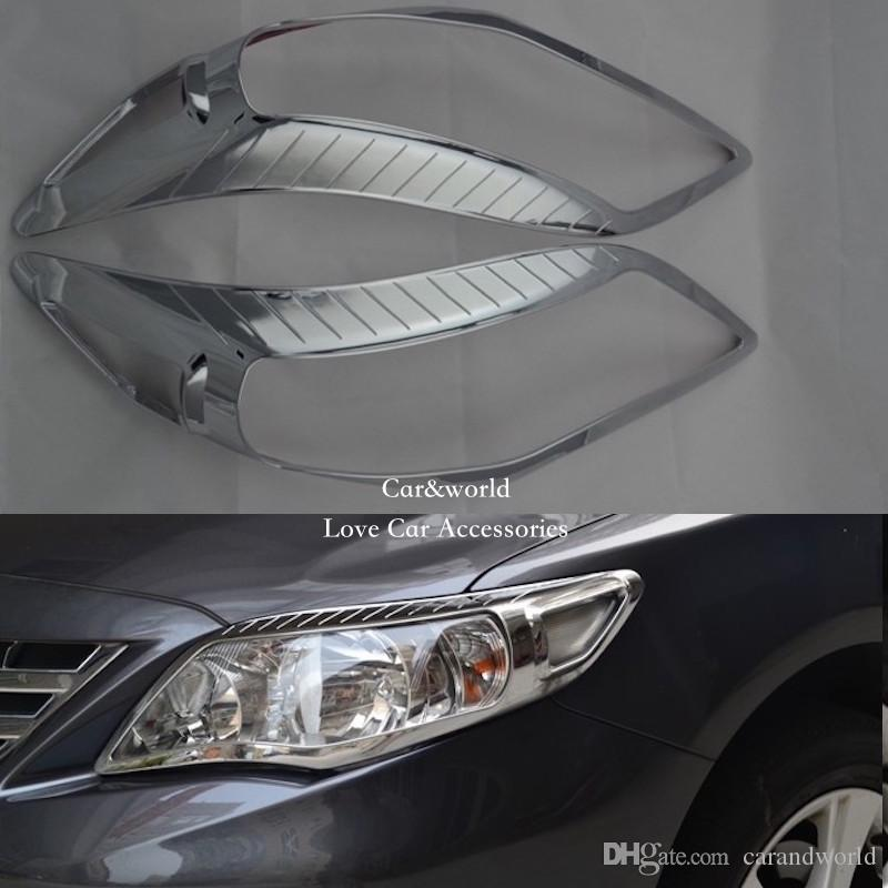 668012a6a59a 2019 Accessories For Toyota Corolla 2011 2012 2013 Front Headlights Cover  Head Light Trim ABS Chrome Decoration Stickers Car Covers From Carandworld