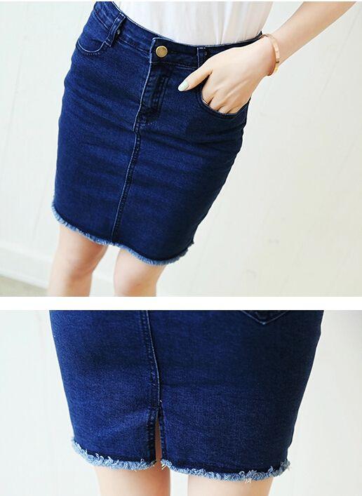 2016 Frauen Kleidung Sommer Denim Röcke Frau Sexy Hohe Taille Verschüttet Damen Schlank Bleistift Mini Kurze Jeans Röcke für Frauen