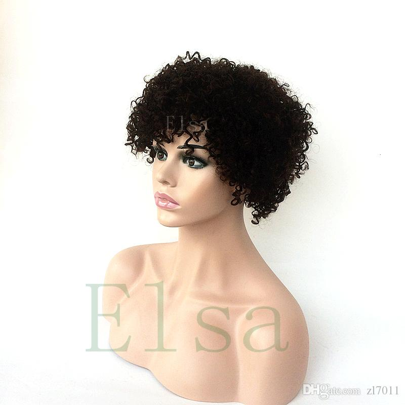Best 100% Unprocessed Afro African Kinky curly human laces Silk Base Top Full Lace wig Kinky Curly human hair