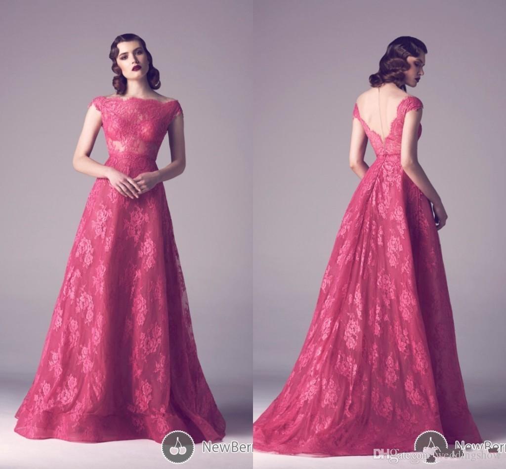 Ashi Studio Modest Lace Prom Dresses 2016 Bateau A Line Long Lace ...