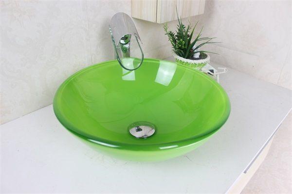 Acquista lavandino verde smeraldo del lavabo del bacino del bagno