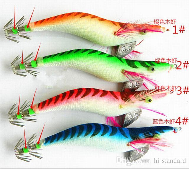 HOT 13.5CM/19.8g 5.31in/0.7oz shrimp Squid hook Luninous Squids Jigs Octopus hook Deepwater High-quality!