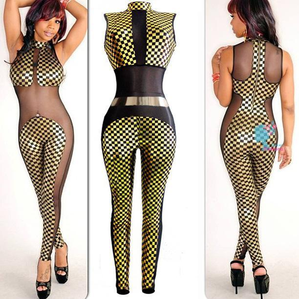 Women Sexy Rompers Irregular Night Club Ladies Sexiest Tight Siamese