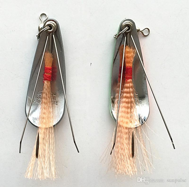 5.5cm Spoon Bait Ice Fishing Lure Metal Bait Ice False Bait Tackle Single Hook Salt or Fresh Water Fish Lure