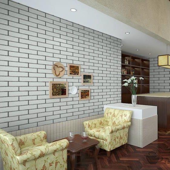 Chinese Culture Stone Imitation Brick Pattern Brick Red Wallpaper