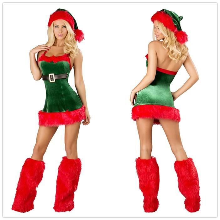 Sexy Christmas Costumes For Women Santau0027S Envy Christmas Dress With Boot Covers Fur Costume Set Outfits C1575 Group Costumes For 8 Original Group Costumes ...  sc 1 st  DHgate.com & Sexy Christmas Costumes For Women Santau0027S Envy Christmas Dress With ...