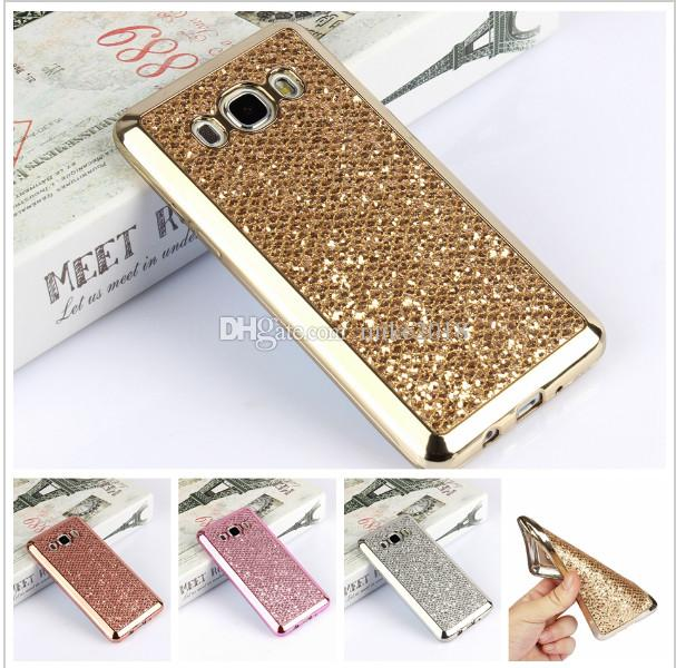 sports shoes aeee5 2fccd Luxury Glitter Bling TPU Case For Samsung Galaxy S4 S5 S6 S7 Edge Plus A3  A5 A7 J1 J3 J5 J7 2016 Grand Prime Phone Cover Cases