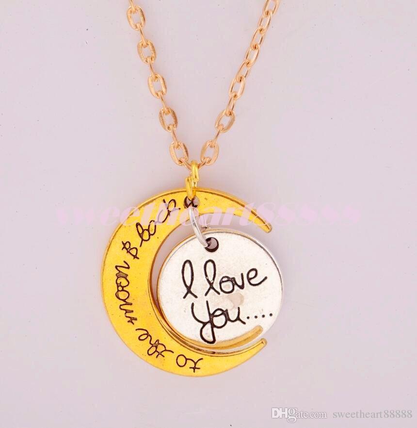 7styles Te amo a la luna y volver collar / del corchete de la langosta caliente del collar Collares