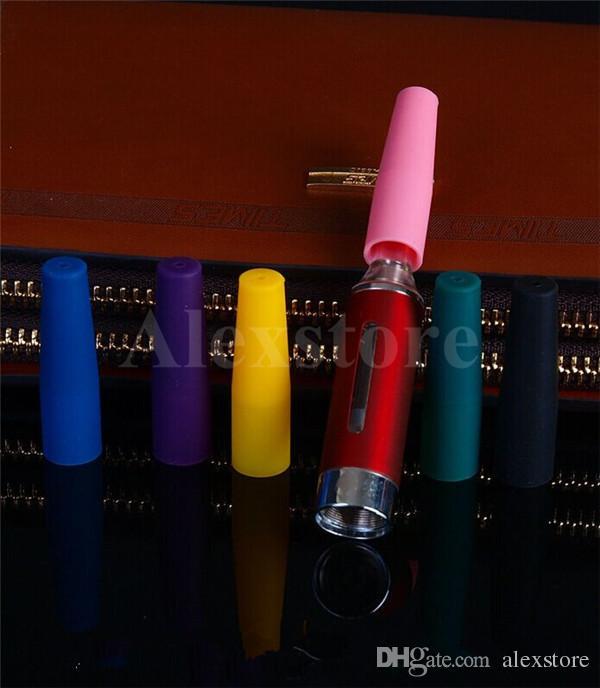 Bocchino in silicone Coperchio antigoccia Monouso Tappi colorati in silicone Tappi lunghi in gomma Consigli test Tester Cap 510 ego gocciolamento e cig DHL