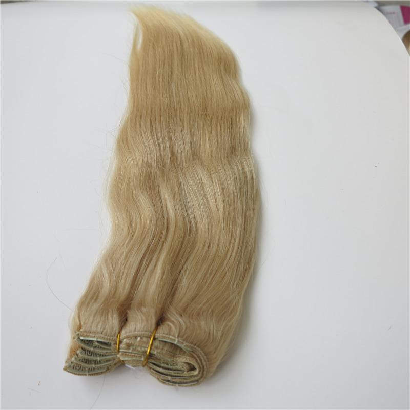 Unprocessed Human Brazilian Hair Clip In Hair Dyeable Remy Hair