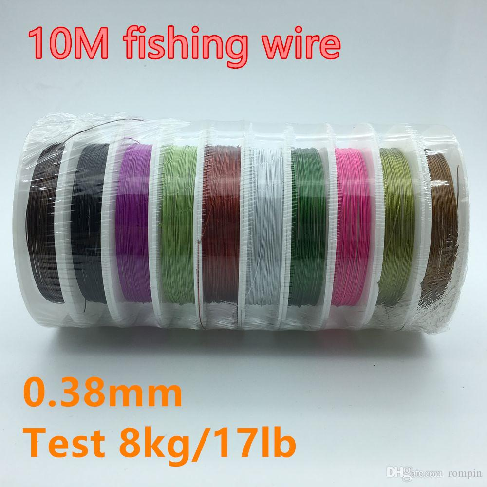 2018 /Barrel Colorful 10m 1*7 Strands Stainless Steel Wire Fishing ...