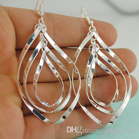 927fa6472 2019 2015 HOT Brand Design Fashion Bohemian Statement Jewelry Big Size 925 Silver  Plated Vintage Drop Earrings For Women E1224 From Phish_zhu, ...