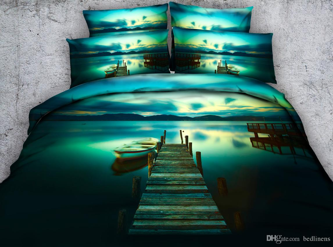 in sea painting full home from oil garden covers ocean flying bedding duvet blue pattern cotton comforter bed king set queen sets luxury item textile on gull