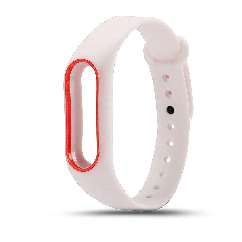 Оптовая красочные силиконовые ремешок браслет двойной цвет замена ремешок для оригинальных MiBand 2 Xiaomi Mi группа 2 браслеты