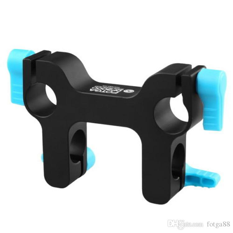 FOTGA DP3000 Mount Bracket Rail Block Rod Clamp for 15mm Rod DSLR HDV Rig System High Quality