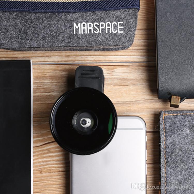 Cep telefonu lens 0.45X geniş açılı harici kamera lensi telefon kamera makro lens seti