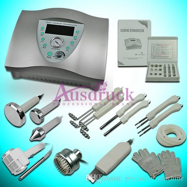 Snabb leverans Hud Spa Diamant Microdermabrasion Dermabrasion Peeling Photon LED Skin Föryngring Hot Cold Hammer Skin Scrubber Machine