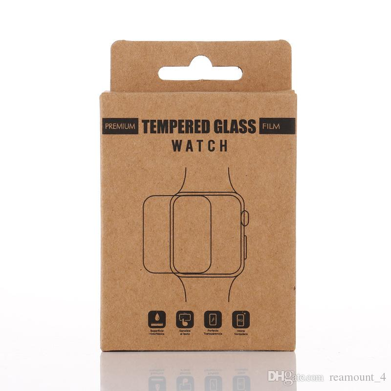 Wholesale DIY Custom Brand Name Package for Temopered Glass Sreen Protector for Apple Watch Retail Paper Packing