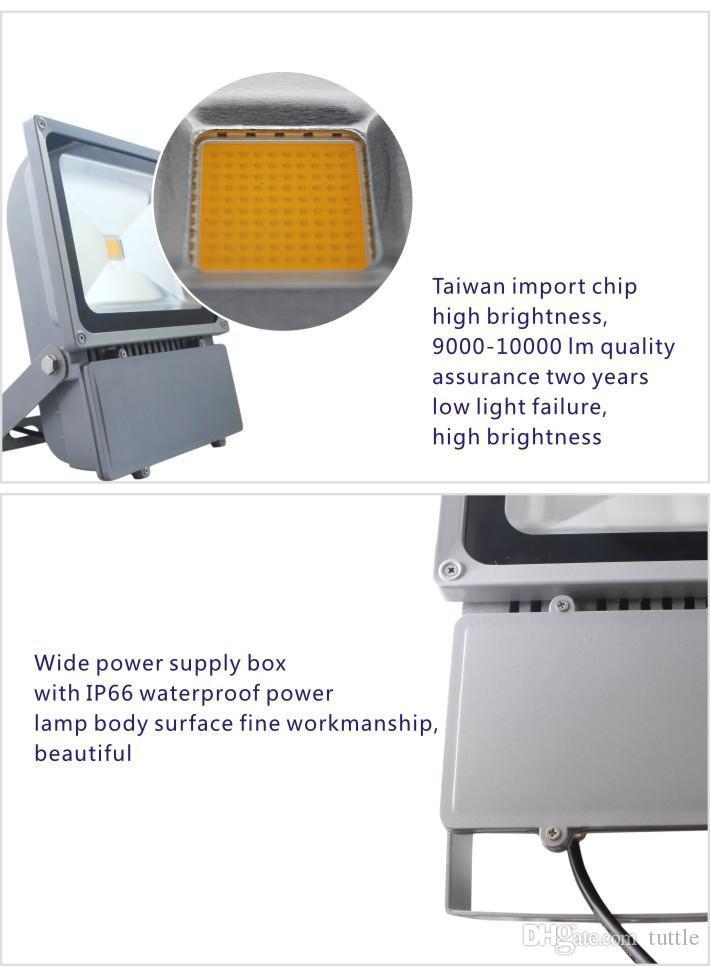 DHL 무료 배송 100W 150W 200W 250W 방수 IP65 Led 야외 홍수 조명 led 가로등 AC 85-265V
