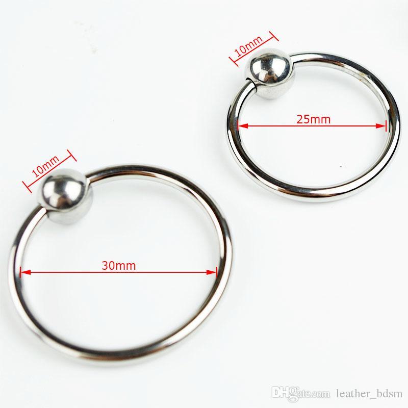 プレッシャーポイント304ステンレススチールジュエリーの男性の陰茎の頭部の輪輪のコック2サイズ選択遅延を選択