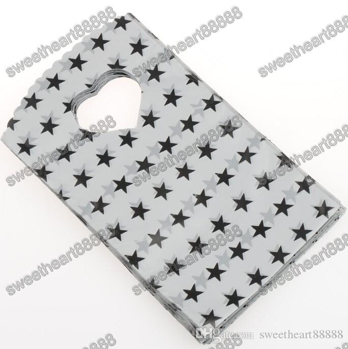 / 9Styles Mode 9X15cm Rose Noir Vert Bandes Dots Sacs En Plastique Bijoux Cadeau Sac Pochettes De Bijoux