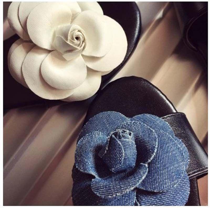 Summer Girls Elegant Camellia flower Slipper 2015 NEW Children fashion Shoes Girls Sandals B001