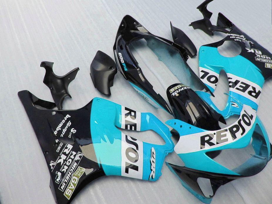 Good blue Repsol Body parts Fitment for Honda CBR 600 F4 custom fairings 1999 2000 fairing kit CBR600 F4 99 00 RMIC