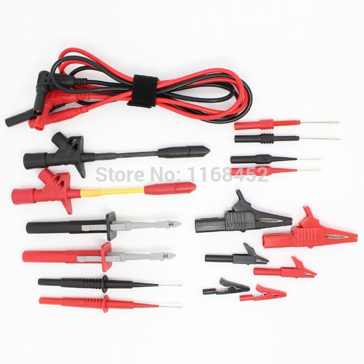 dmm09 electronic specialties test lead kit back probe alligator piercer hook multimeter test kit automotive test probe kit
