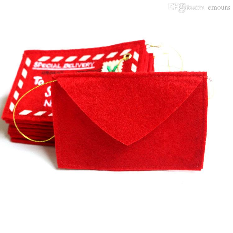 Porta biglietti di Natale Porta biglietti di carta Porta caramelle con buste Porta carte di credito di Natale, rosso