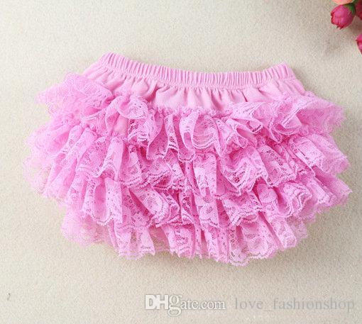11 renkler Bebek Kız Dantel TUTU Bloomers Sevimli Çocuklar Kısa Kızlar Pettiskirt tutuş iç çamaşırı pantolon Bebek Fırfır Bezi Kapak Çocuk giyim