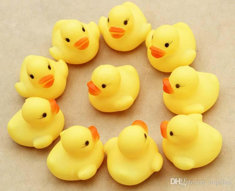 2019 Baby Bath Water Toy Toys Sounds Mini Yellow Rubber